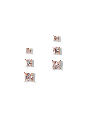 3 Piece Polished Cubic Zirconia Post Earring Set by New York & Company