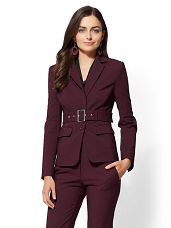 7th Avenue   Belted 2 Button Jacket   All Season Stretch by New York & Company