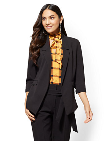 7th Avenue   Black Soft Jacket by New York & Company