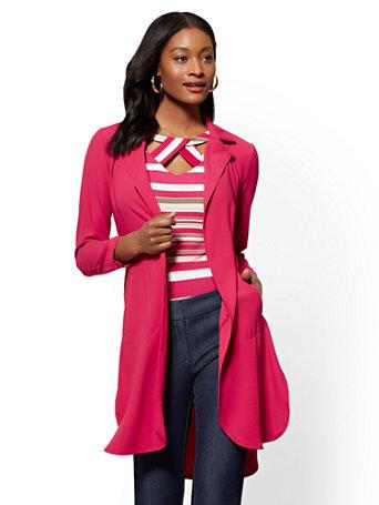 7th Avenue   Magenta Jacket by New York & Company