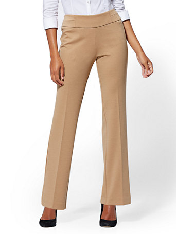 7th Avenue Pant - Camel Pull-On Straight Leg | Tuggl