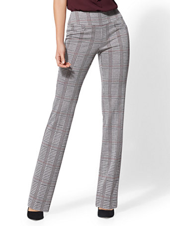 7th Avenue Pant   Petite Plaid Pull On Bootcut by New York & Company