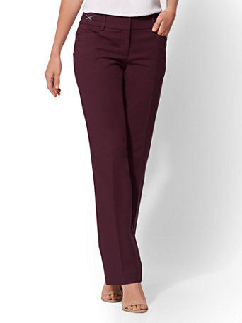 7th Avenue Pant   Straight Leg   Modern   All Season Stretch by New York & Company