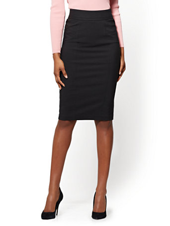 7th Avenue - Seamed Pencil Skirt - All-Season Stretch | Tuggl