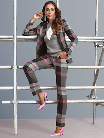 7th Avenue – Tall Plaid Jacket by New York & Company