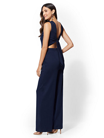 7th Avenue - Tie-Back Jumpsuit | Tuggl