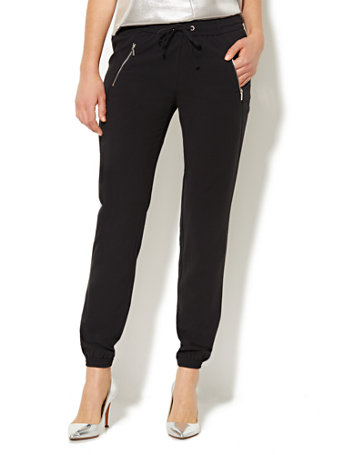 NY&C: Banded Ankle Soft Pant - Black