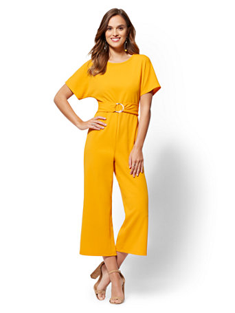 Belted Dolman Jumpsuit by New York & Company
