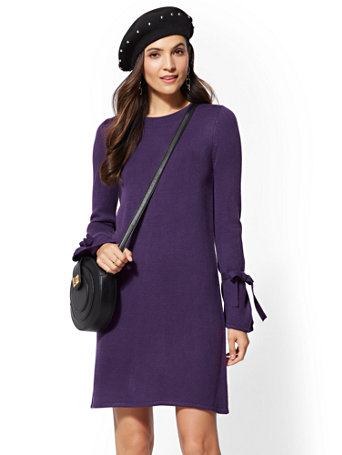 Bow Sleeve Sweater Dress by New York & Company