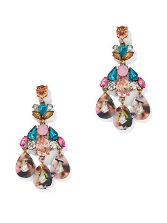 Colorful Crystal Drop Earring by New York & Company