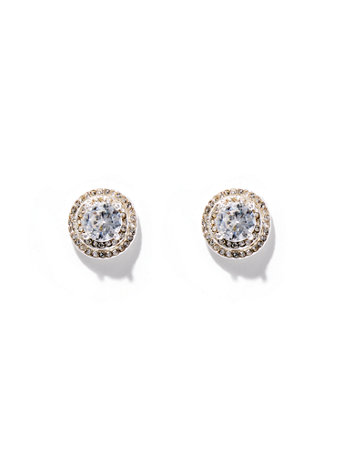 Dazzling Silvertone Post Earring by New York & Company