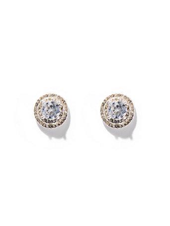 Dazzling Silvertone Post Earring by New York & Company