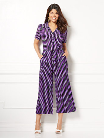 Eva Mendes Collection   Alexis Gaucho Jumpsuit by New York & Company