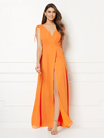 Eva Mendes Collection   Allegra Wrap Maxi Dress by New York & Company