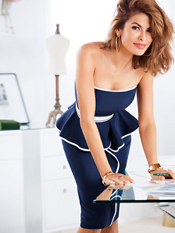 Eva Mendes Collection - Angie Peplum Sheath Dress | Tuggl