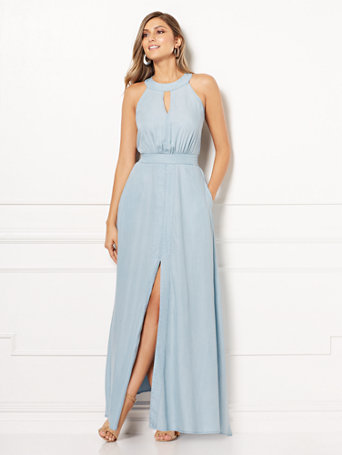 Shoptagr Eva Mendes Collection Caryn Halter Maxi Dress By New York