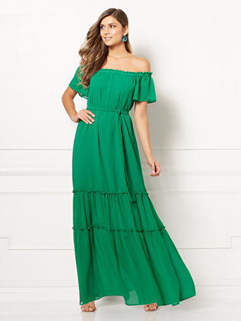 Eva Mendes Collection   Concetta Maxi Dress by New York & Company