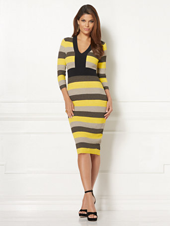 Ny Amp C Eva Mendes Collection Francisca Stripe Sweater Dress