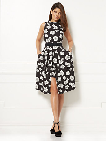 Ny Amp C Eva Mendes Collection Freya Fit Amp Flare Dress