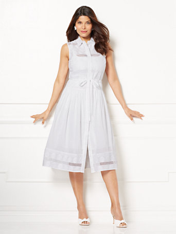 Eva Mendes Collection   Gayle White Shirtdress by New York & Company