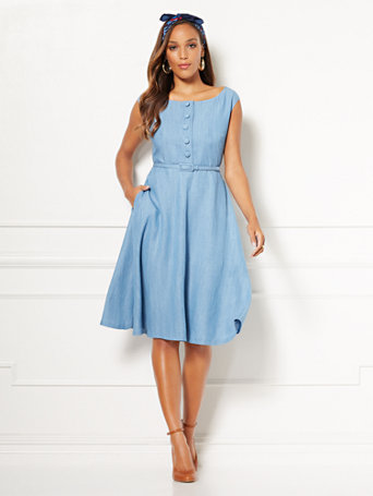 Eva Mendes Collection   Janet Fit And Flare Dress by New York & Company