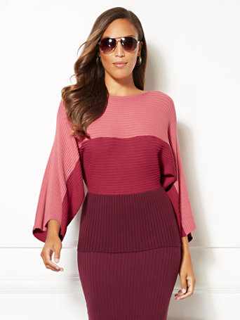 Eva Mendes Collection   Kacey Colorblock Sweater by New York & Company