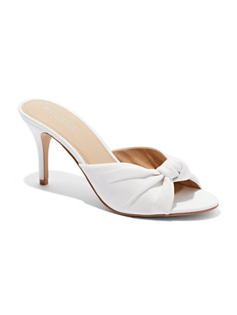 Eva Mendes Collection   Knot Front Faux Suede Sandal by New York & Company