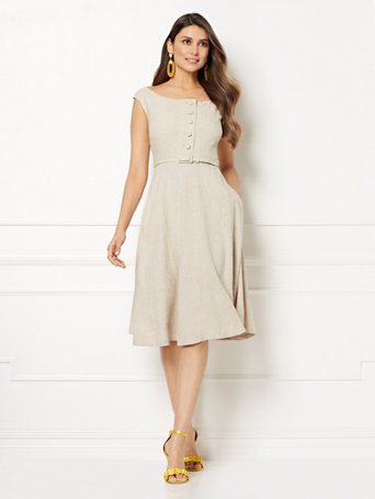 Eva Mendes Collection   Mackenzie Linen Sundress by New York & Company