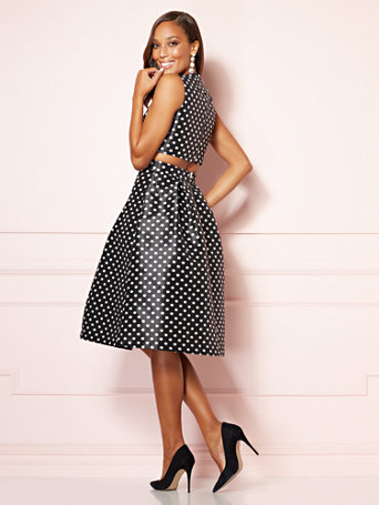 Eva Mendes Collection   Marquita Cutout Flare Dress by New York & Company