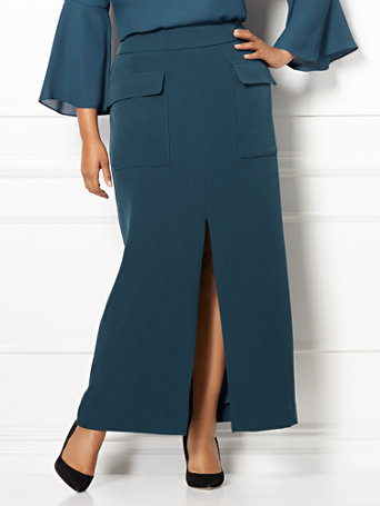 Eva Mendes Collection   Octavia Maxi Skirt   Plus by New York & Company