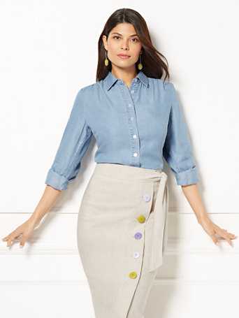 Eva Mendes Collection   Reva Blouse by New York & Company