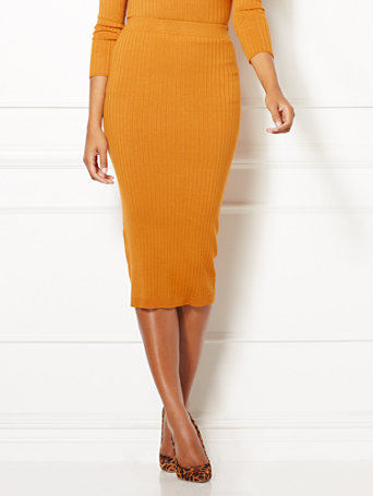 Eva Mendes Collection   Shonda Sweater Skirt by New York & Company
