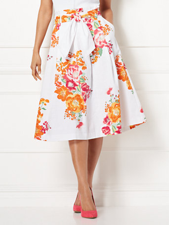Eva Mendes Collection   Tatiana Paperbag Waist Skirt by New York & Company