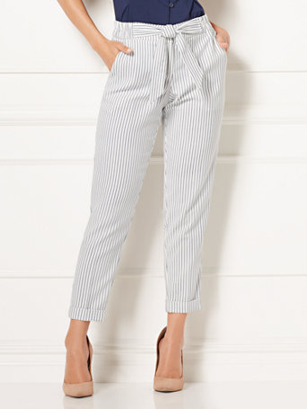 Eva Mendes Collection   Zoey Striped Pant by New York & Company