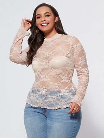 Ftf Ariel Lace Top by New York & Company