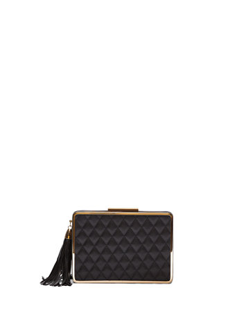 Ftf Hard Quilted Clutch by New York & Company