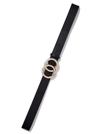 Ftf Pearl Statement Buckle Belt by New York & Company