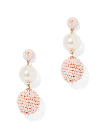 Ftf Pink Bauble Earring by New York & Company