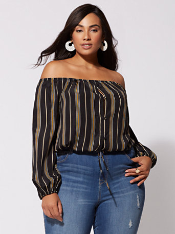 Ftf Samantha Off Shoulder Top by New York & Company
