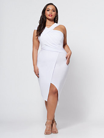 Ftf Signature   Viera Ruched Bodycon Dress by New York & Company