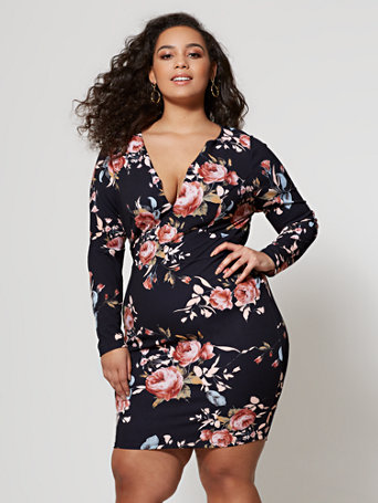 Ftf Vanessa Floral Dress by New York & Company