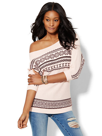 NY&C: Fair Isle Tunic Sweater