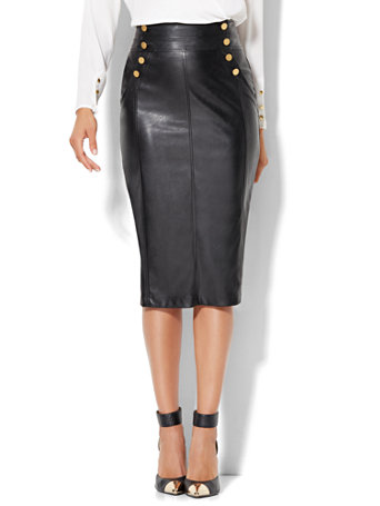 Faux Leather Pencil Skirt by New York & Company
