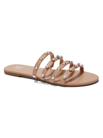 Faux-Stone & Studded Sandal | Tuggl