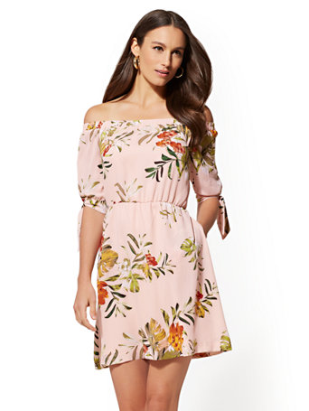 Floral Off The Shoulder Dress by New York & Company