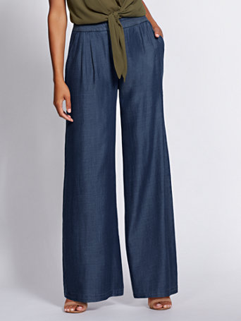 Gabrielle Union Collection   Petite Wide Leg Jean by New York & Company