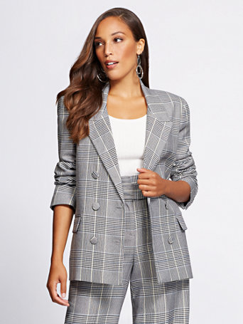 Gabrielle Union Collection   Plaid Blazer by New York & Company