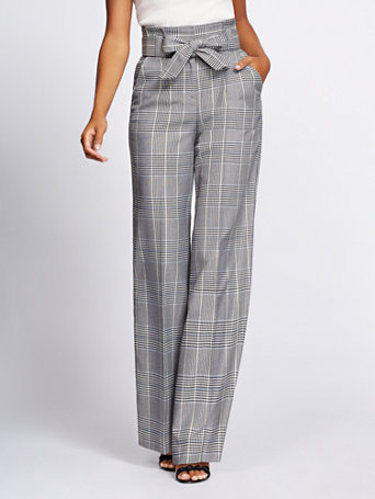 Gabrielle Union Collection   Tall Plaid Wide Leg Pant by New York & Company