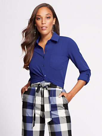 Gabrielle Union Collection   Twist Front Shirt by New York & Company