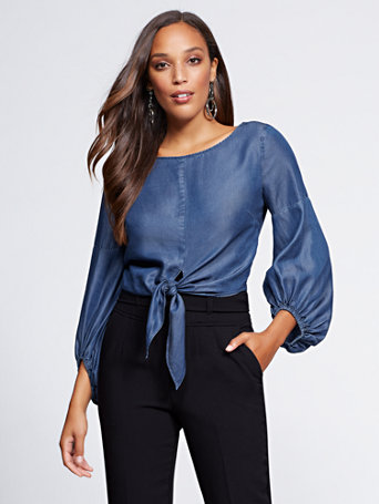 Gabrielle Union Collection   Ultra Soft Chambray Shirt by New York & Company
